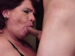 Big tits Granny fucked by young boy