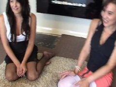 Bex, Debz & Charlotte play Strip Spin-the-Bottle