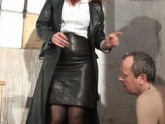Holder smoking Mistress and Lucky slave 3/23/16