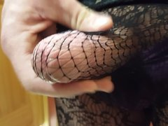 Black Lace Stockings Dressing Room Ruined Orgasm Fun