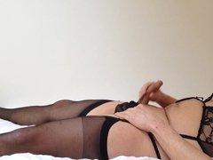 Cum on my stocking tops