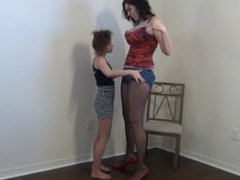 Fucking tall and strong Vanessa and small girl