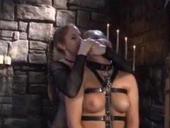 Lesbian Mistress playing with her slavegirl