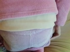 Prissy Sissy Rebecca beaten for being a brat in her pink pajamas!