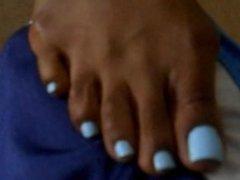 Debra Blue Toenails