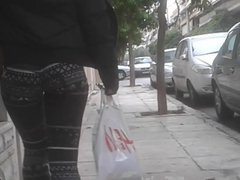 perfect ass greek teen shopping with yoga pants