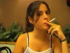young girls smoking