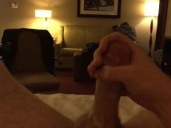 Jerk off with cum in Calgary hotel