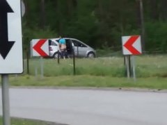 Polish sex in a public place police action