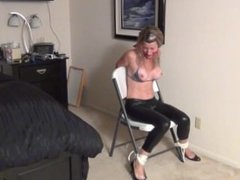 mom and daughter bound and gagged by moms new boyfriend.