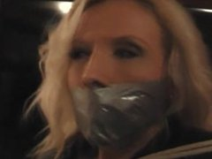 Bound and gagged by burglar
