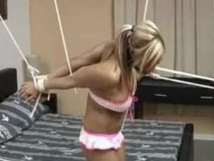 Rio 005 - Bed bound and strung up in bikini
