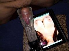 Triple Cumshot with clear fleshlight tribute video for fan. Male masturbati