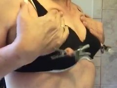 Artemus - CD Bra, Nipples Clamped and Pulled