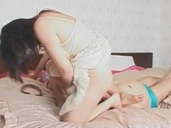 asian milf double facesitting