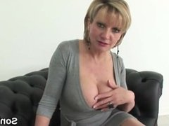 Unfaithful british milf gill ellis shows off her huge boobs