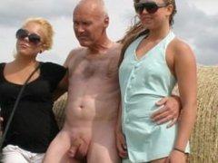 Slideshow: Teens and pervert grandpa exhibit in public park and beach