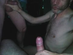 Sucking a couple of m8's cocks