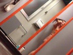 work colleg on shower hidden cam