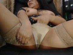 Webcam wet underwear Latin mom