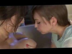 2 hot teens kissing and spitting on each other - Holly Michaels & Riley