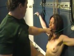 Woman must take it in her open mouth
