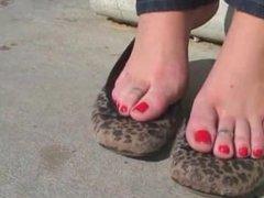 Sexy Brunette Beach Feet POV