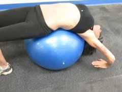 D Pt14 Physio Ball Backbends and Navel Play
