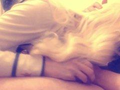 Blonde crossdresser HayleyPetHarley sucks cock