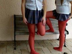 Zoligirls red pantyhose girls