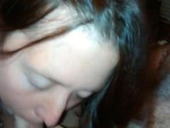 Ex Baby Mama sucking and swallowing all the cum I had