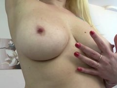 Natural mature mom with big tits and ass