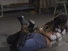 Jeans and Boots Hogtie Part 2