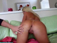 Slutty blonde loves anal sex