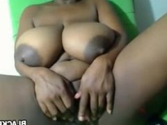 Black Mom with big lactating boobs
