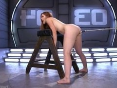 Spanish babe fucked by a machine