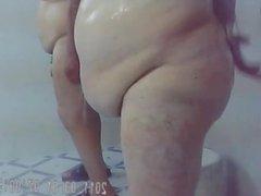 Fat ass in the shower 2