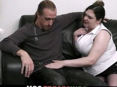 He cheats with busty plumper as wife gone