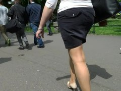 pantyhose candid street comp