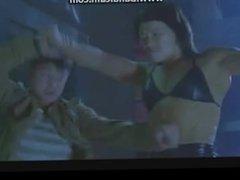 Femfight - Muscle girl VS some guy