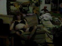 Transvestite Jayne Jerking Cock