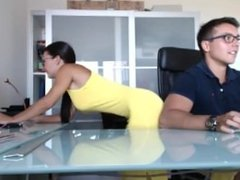Hot Couple on Webcam 1 Amateur Blowjob Fuck on Table