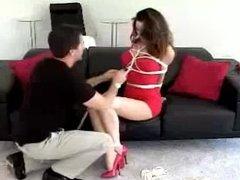 Red dress, white ropes