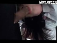 schoolgirl threesome fucked by bus geek