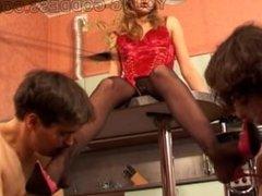 Anna Gold 2 mistresses 2 slaves
