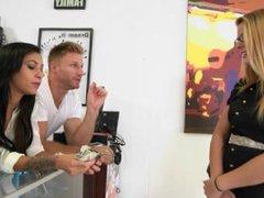 Money Talks - Freaky teen threesome