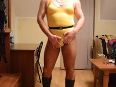 Me in yellow swimsuit