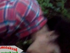 Mature Woman Sucking Dick in the Woods