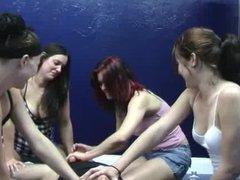 Handjob group girls