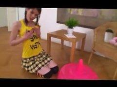 Hot teen rides Dildo chair